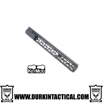 "Guntec AR-15 15"" Air Lite Keymod Free Floating Handguard with monolithic top rail (sniper gray)"