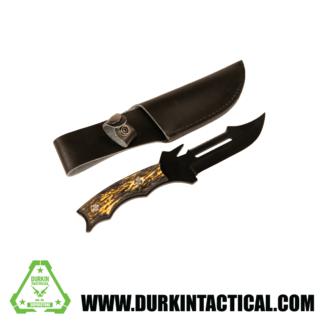 KNIFE | SAWTOOTH W/SHEITH | BLACK