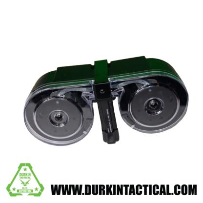 RWB AR-15 5.56mm 100rd High Capacity Dual Drum Magazine - Black