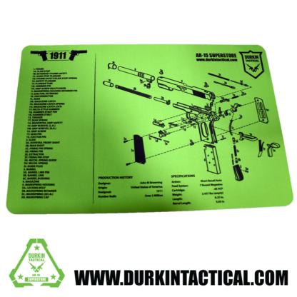 Durkin Tactical 1911 Build Mat - Green