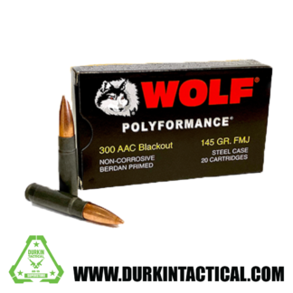 Wolf Polyformance | 300 AAC BO | 145 GR | FMJ| Steel Case| 20 Rounds