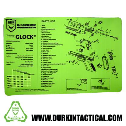 Durkin Tactical Lime Green Glock Pistol Build Mat