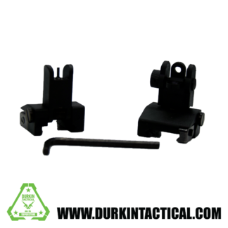 Training Series - New Gen Front and Rear Flip Up 45° Offset Sight Kit - Black