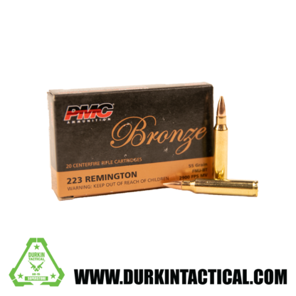 PMC Bronze .223 Remington Rifle Ammo | 55 Grain | FMJ-BT | 20rd Box