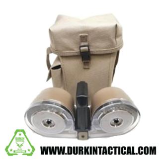 RWB AR-15 .223/ 5.56mm 100rd High Capacity Dual Drum Magazine Gen 2 - Desert Tan