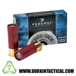 Federal Ammunition, 12 Gauge, Power Shok, Maximum Rifled Slug HP, 2.75 in. , 1 oz., 5 Cartridges