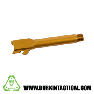 9MM Glock 19 Barrel - Gold w/ Protector - Threaded