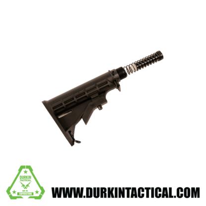 Black Commercial Stock Kit w/ Dual Endplate, Buffer Spring, Buffer, Commercial Spec Buffertube, Castlenut
