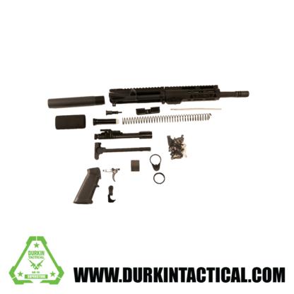"8.5"" 5.56 Parkerized Black Barrel Build Kit | 7"" MLoK Handguard | Pistol Gas System | Standard Charging Handle"