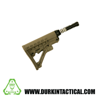 OD Green Commercial Stock Kit w/ Dual Endplate | Buffer Spring | Buffer | Commercial Spec Buffer Tube | Castle Nut