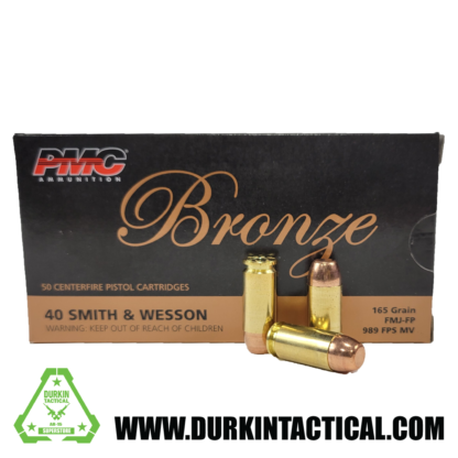 PMC Bronze .40 Caliber | Smith & Wesson | 165 gr | FMJ