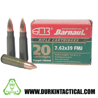 Barnaul Ammo   7.62x39mm   FMJ   123 gr   20 rds